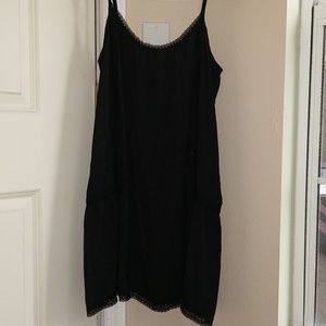 Aerie long thin Cami with lace hem and design
